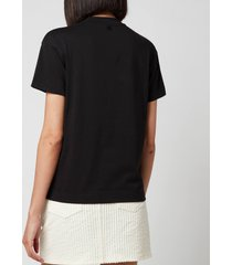 ami women's corduroy mini skirt - off white - l