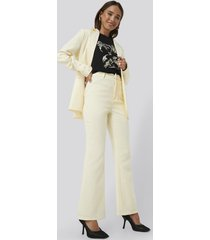 erica kvam x na-kd highwaisted suit pants - yellow