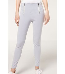 calzedonia double zip leggings woman blue size l