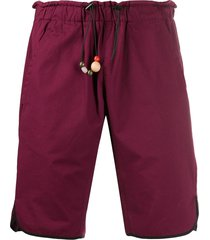 corelate bead detail track shorts - red