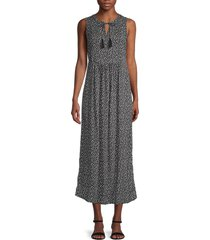beach lunch lounge women's karmarin ditsy floral sleeveless midi dress - aegean - size l