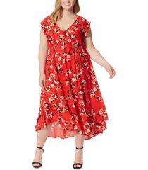 jessica simpson trendy plus size gabbie printed maxi dress