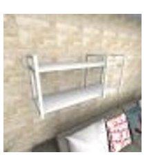 prateleira industrial para sala aço branco prateleiras 30 cm branca modelo indb21bsl