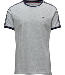 rn tee ss t-shirts short-sleeved grå tommy hilfiger
