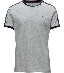 rn tee ss t-shirts short-sleeved grå tommy hilfiger