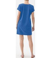 women's michael stars v-neck jersey minidress, size x-small - blue