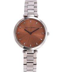 rebecca minkoff women's stainless steel bracelet watch