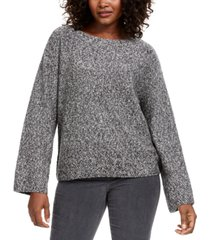 style & co marled flared-sleeve sweater, created for macy's