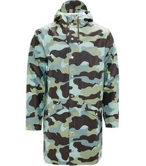 blazer rains aop long jacket