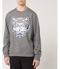 kenzo men's classic tiger sweatshirt - anthracite - l