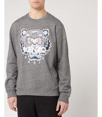 kenzo men's classic tiger sweatshirt - anthracite - xl