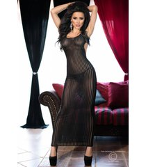 chilirose jurk cr4137-zwart