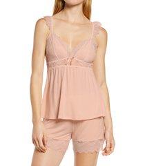 women's homebodii petra short pajamas, size large - pink