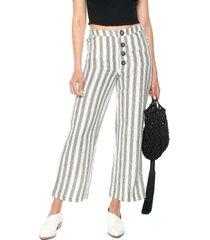 pantalón blanco-negro mng
