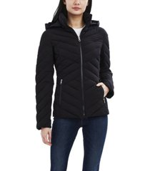nautica hooded stretch packable coat
