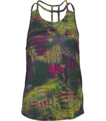 unmtd strap singlet w t-shirts & tops sleeveless multi/mönstrad craft