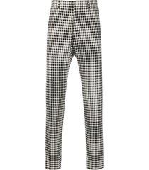 ami check-pattern cigarette trousers - black