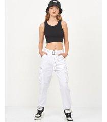 pantalón blanco 47 street cargo sabine