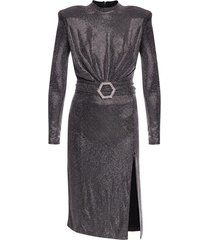 dress with buckle detail