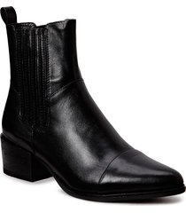 marja shoes boots ankle boots ankle boot - heel svart vagabond