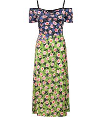 selene, 1163 viscose jersey printed knälång klänning multi/mönstrad stine goya