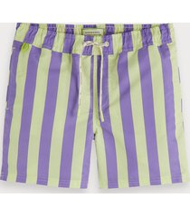 scotch & soda striped swim shorts