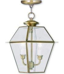 livex westover 2-light outdoor chain lantern