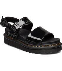 voss shoes summer shoes flat sandals svart dr. martens
