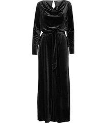 jumpsuit maxiklänning festklänning svart ilse jacobsen