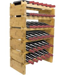 sorbus 6 tier stackable bamboo wine rack