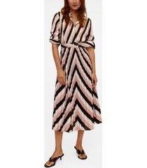 mango women's geometric print midi dress