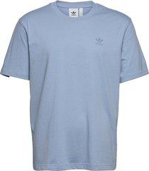 adicolor classics marshmallow trefoil tee t-shirts short-sleeved blå adidas originals