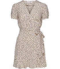 linetta dress aop 10056 dresses wrap dresses beige samsøe samsøe