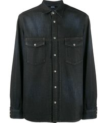 diesel coated denim shirt - blue