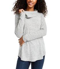 bcx juniors' cowlneck knit sweater