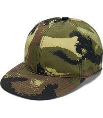 valentino camouflage baseball cap - green