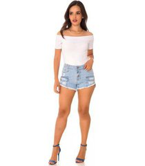 shorts jeans express hot pants olívia feminino