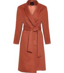 casaco feminino sobretudo alpaca - ferrugem