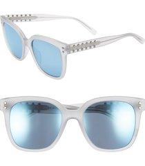 women's rebecca minkoff cyndi 54mm studded sunglasses - matte grey