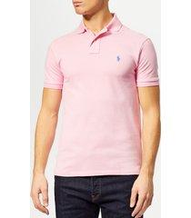 polo ralph lauren men's basic pique slim fit polo-shirt - taylor rose - xxl - pink