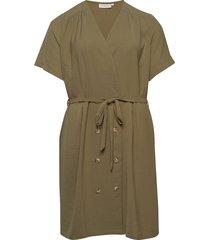 carrani ss knee dress knälång klänning grön only carmakoma