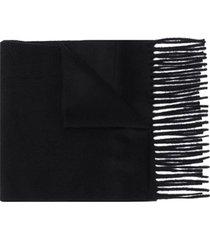 filippa k cachecol de tricô com acabamento desfiado - preto