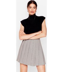 womens check up on 'em pleated mini skirt - multi