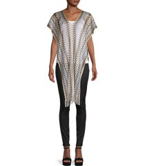 missoni women's side fringed poncho - natural