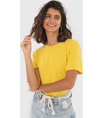 camiseta oh, boy! basic amarela - amarelo - feminino - algodã£o - dafiti