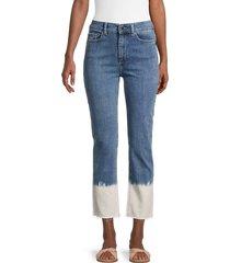 dl1961 women's mara dip-dye high-rise cropped jeans - alvarado - size 24 (0)
