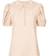 chloé peter pan collar blouse - neutrals