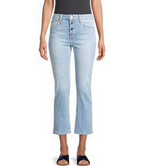 joe's jeans women's bootie leg cropped jeans - indigo - size 32 (10-12)