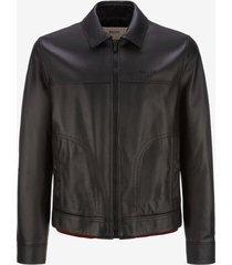 leather jacket black 50