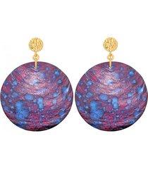 kolczyki z burgundowej masy perłowej